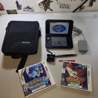 Nintendo 3DS XL Black & Red + Pokemon X & Moon Silver Nintendo 3DS XL - Luigi 30th + Jeux (Liquidation&Condition-)