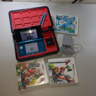 Nintendo 3DS XL Aqua Blue +Jeux (Liquidation&Condition-)