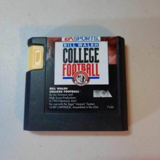 Bill Walsh College Football Sega Genesis (Loose)