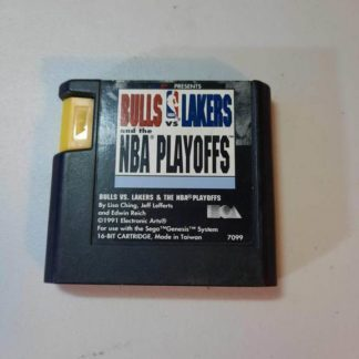 Bulls vs Lakers and the NBA Playoffs Sega Genesis (Loose)